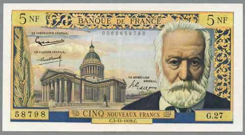 billet de banque victor hugo
