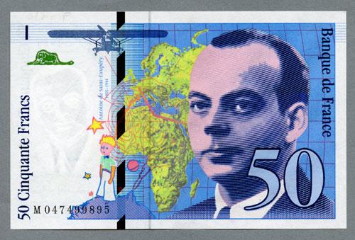 Billets Banque De France 50 Francs Saint Exupery Type 1992 Modifie