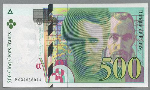 Billets Banque De France 500 Francs Pierre Et Marie Curie Type 1993
