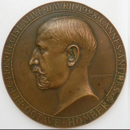 Photo numismatique  Médailles FINANCES (Notaires, CE, Banque…) OCTAVE HOMBERG (1876-1941)  Médaille