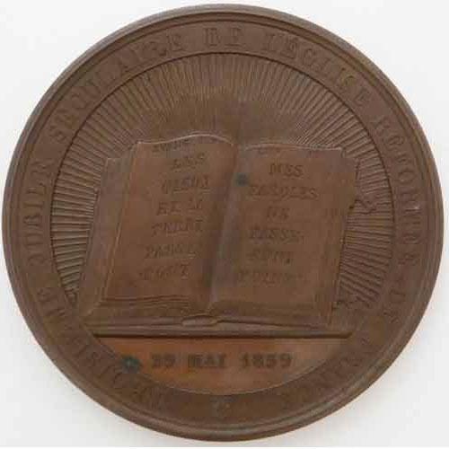 Photo numismatique  Médailles RELIGIONS PROTESTANTISME  Médaille