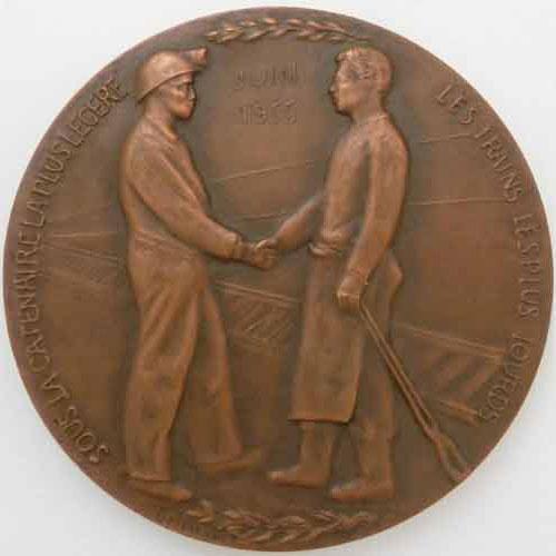 Photo numismatique  Médailles TRANSPORTS ( Terrestres, maritimes, ferroviaires…) TRANSPORTS FERROVIAIRES  Médaille