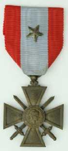 Photo numismatique  Ordres et Décorations Décorations Militaires Françaises CROIX DE GUERRE DES T.O.E.  Croix de guerre des T.O.E.