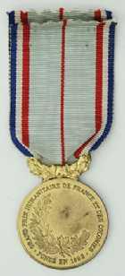 Photo numismatique  Ordres et Décorations Décorations Civiles Françaises GRAND PRIX HUMANITAIRE DE FRANCE ET DES COLONIES  Médaille