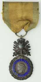 Photo numismatique  Ordres et Décorations La Médaille Militaire TROISIEME REPUBLIQUE (1871-1951)  Médaille