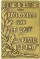Photo numismatique  Médailles SCIENCES & TECHNIQUES CHIMIE PROFESSEUR CHARLES PORCHER Plaquette
