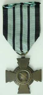 Photo numismatique  Ordres et Décorations Décorations Militaires Françaises ETAT FRANCAIS (1940-1944)  Croix du Combattant