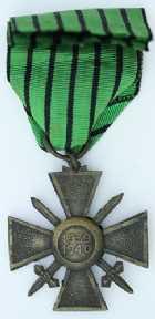 Photo numismatique  Ordres et Décorations Décorations Militaires Françaises ETAT FRANCAIS (1940-1944) CROIX DE GUERRE Croix de guerre