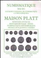 Photo numismatique  Librairie Catalogues de la Maison Platt Catalogue Mai 2011  Catalogue général de numismatique
