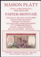 Photo numismatique  Librairie Catalogues de la Maison Platt Catalogue Printemps 2009  Catalogue de PAPIER-MONNAIE