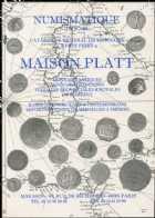 Photo numismatique  Librairie Catalogues de la Maison Platt Catalogue Juin 2001  Catalogue général de numismatique